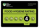 FSA Hygiene Rating 4