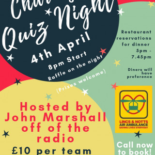 Charity Quiz Night - April