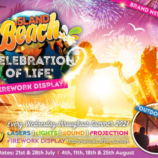 Celebration of Life Firework Display at Fantasy Island, EVERY WEDNESDAY
